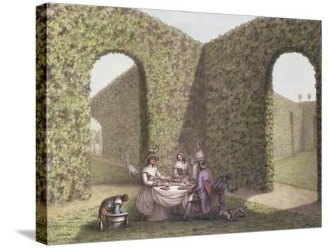 Tea in the Garden- Lequeu-Stretched Canvas Print