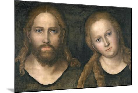 Christ and Mary, 1516-20-Lucas Cranach the Elder-Mounted Giclee Print
