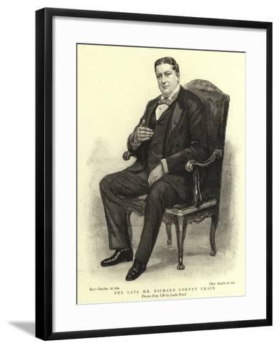 The Late Mr Richard Corney Grain-Leslie Matthew Ward-Framed Art Print