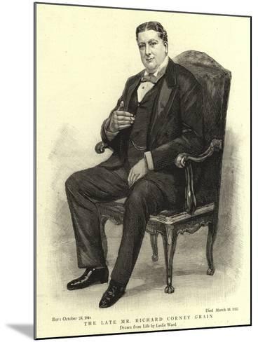 The Late Mr Richard Corney Grain-Leslie Matthew Ward-Mounted Giclee Print