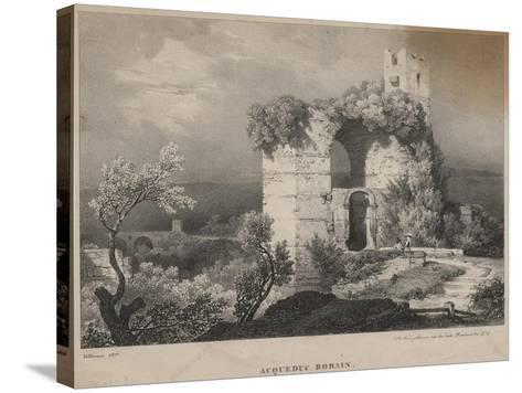 Acqueduc Romain, 1827-Louis Jules Frederic Villeneuve-Stretched Canvas Print