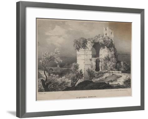 Acqueduc Romain, 1827-Louis Jules Frederic Villeneuve-Framed Art Print