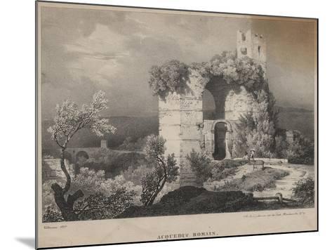 Acqueduc Romain, 1827-Louis Jules Frederic Villeneuve-Mounted Giclee Print