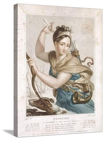 Frimaire (November/December), Third Month of the Republican Calendar, Engraved by Tresca, C.1794-Louis Lafitte-Stretched Canvas Print