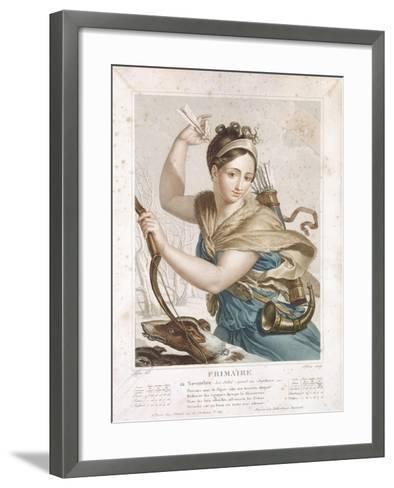 Frimaire (November/December), Third Month of the Republican Calendar, Engraved by Tresca, C.1794-Louis Lafitte-Framed Art Print