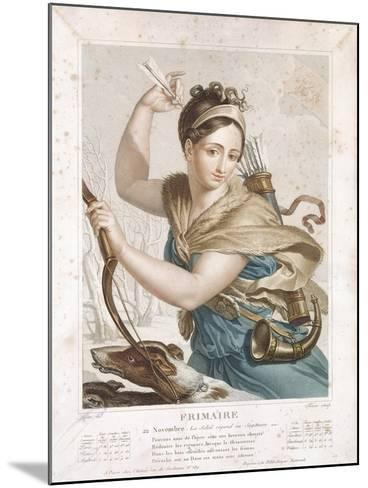 Frimaire (November/December), Third Month of the Republican Calendar, Engraved by Tresca, C.1794-Louis Lafitte-Mounted Giclee Print