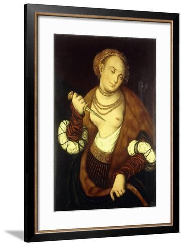 Lucretia, 1548-Lucas Cranach the Elder-Framed Art Print
