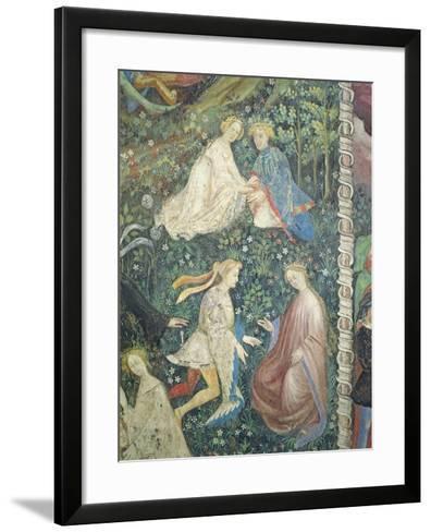 Lovers in a Garden in May-Maestro Venceslao-Framed Art Print