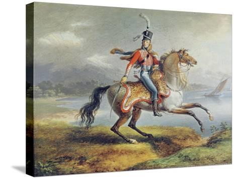 Equestrian Self Portrait, 1806-08-Louis Lejeune-Stretched Canvas Print