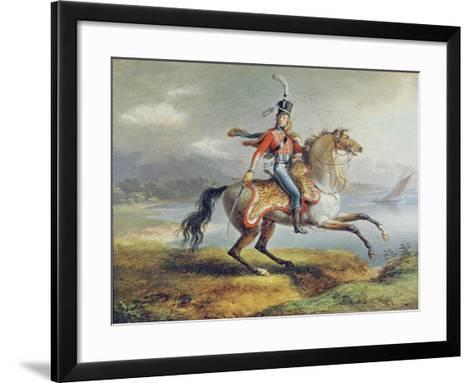 Equestrian Self Portrait, 1806-08-Louis Lejeune-Framed Art Print