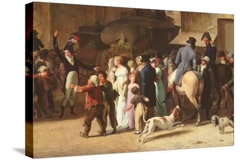 The Conscripts of 1807 Marching Past the Gate of Saint-Denis, Detail of Spectators-Louis Leopold Boilly-Stretched Canvas Print