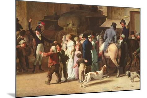 The Conscripts of 1807 Marching Past the Gate of Saint-Denis, Detail of Spectators-Louis Leopold Boilly-Mounted Giclee Print