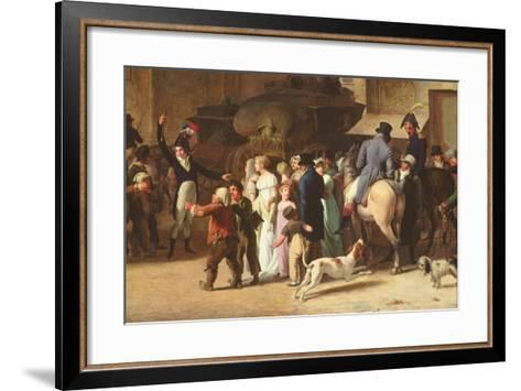 The Conscripts of 1807 Marching Past the Gate of Saint-Denis, Detail of Spectators-Louis Leopold Boilly-Framed Art Print