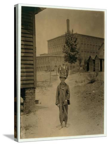 12 Year Old Eddie Norton-Lewis Wickes Hine-Stretched Canvas Print