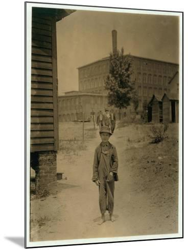 12 Year Old Eddie Norton-Lewis Wickes Hine-Mounted Photographic Print
