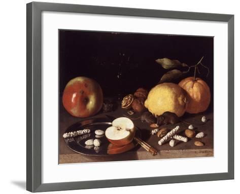 Still Life with Mice, 1619-Lodewik Susi-Framed Art Print