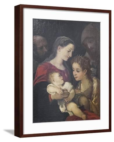 The Holy Family with Saints Francis and Catherine of Alexandria, C.1589-92-Lodovico Carracci-Framed Art Print