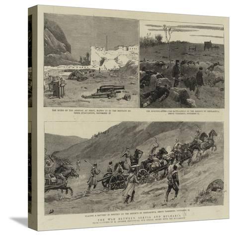 The War Between Servia and Bulgaria-Maksymiljan Antoni Piotrowski-Stretched Canvas Print