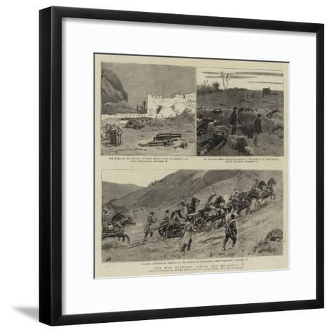 The War Between Servia and Bulgaria-Maksymiljan Antoni Piotrowski-Framed Art Print