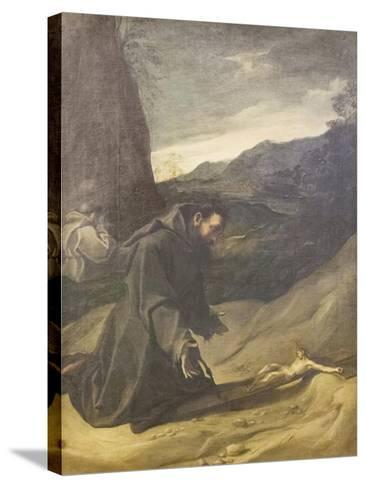 St Francis Adoring the Crucifix, C.1583-84-Lodovico Carracci-Stretched Canvas Print