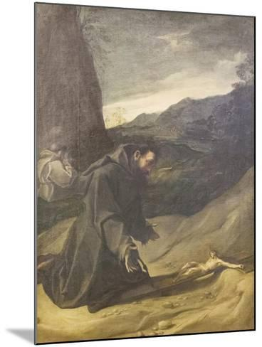 St Francis Adoring the Crucifix, C.1583-84-Lodovico Carracci-Mounted Giclee Print