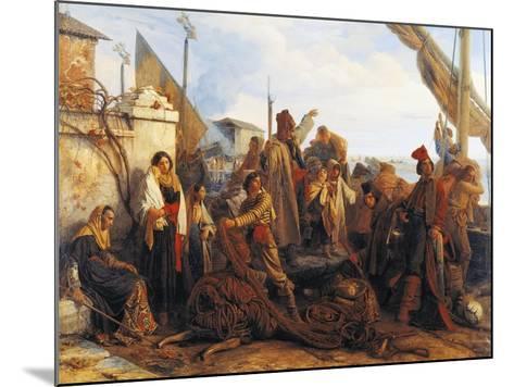 Fishermen Departing on the Adriatic, 1834-Louis Leopold Robert-Mounted Giclee Print