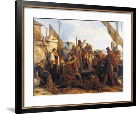 Fishermen Departing on the Adriatic, 1834-Louis Leopold Robert-Framed Art Print