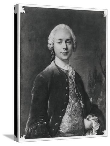 Portrait of Jean Baptiste Louis Gresset-Louis M^ Tocque-Stretched Canvas Print