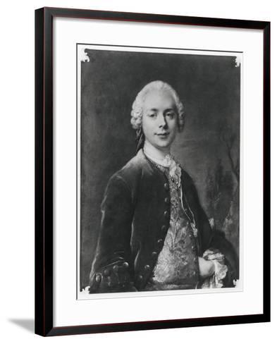 Portrait of Jean Baptiste Louis Gresset-Louis M^ Tocque-Framed Art Print