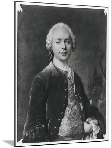 Portrait of Jean Baptiste Louis Gresset-Louis M^ Tocque-Mounted Giclee Print