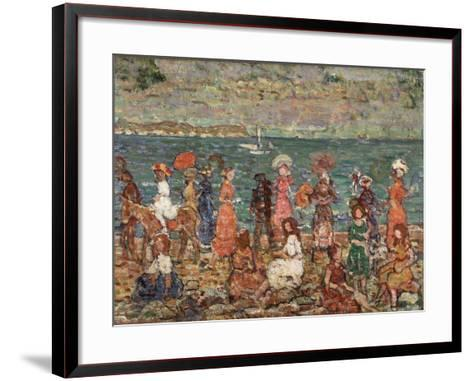 Seashore, C.1913-Maurice Brazil Prendergast-Framed Art Print