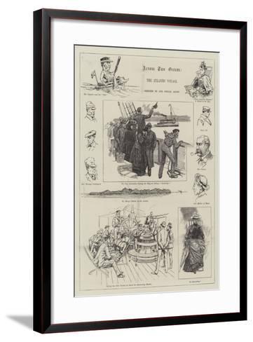 Across Two Oceans, the Atlantic Voyage-Melton Prior-Framed Art Print