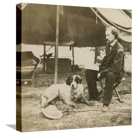 General Custer (1839-76) at His Headquarters, C.1864-Mathew Brady-Stretched Canvas Print