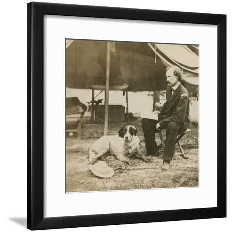 General Custer (1839-76) at His Headquarters, C.1864-Mathew Brady-Framed Art Print
