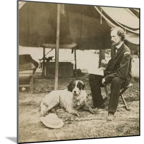 General Custer (1839-76) at His Headquarters, C.1864-Mathew Brady-Mounted Photographic Print