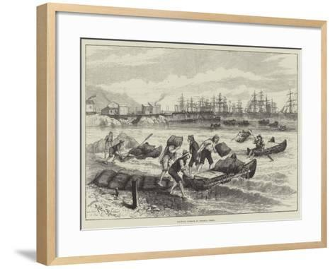 Shipping Nitrate at Pisagua, Chile-Melton Prior-Framed Art Print