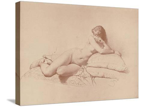Study of a Reclining Female Nude, 1885-Mihaly von Zichy-Stretched Canvas Print