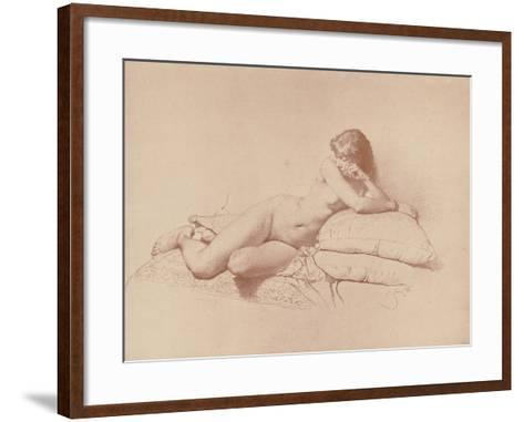 Study of a Reclining Female Nude, 1885-Mihaly von Zichy-Framed Art Print