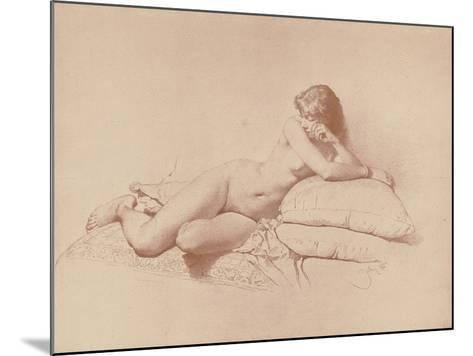 Study of a Reclining Female Nude, 1885-Mihaly von Zichy-Mounted Giclee Print