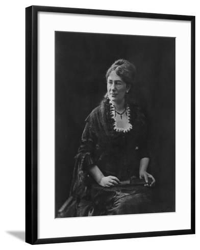 Portrait of Juliette Adam-Nadar-Framed Art Print