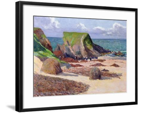 Harvesting of Seaweed, 1891-Maxime Emile Louis Maufra-Framed Art Print