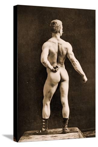 Eugen Sandow, in Classical Ancient Greco-Roman Pose, C.1893-Napoleon Sarony-Stretched Canvas Print