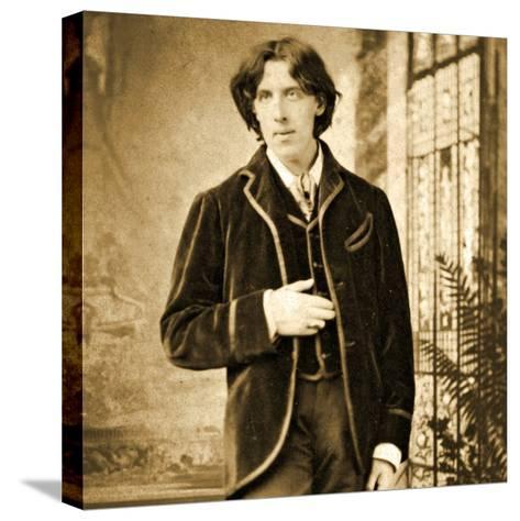Portrait of Oscar Wilde C. 1882-Napoleon Sarony-Stretched Canvas Print