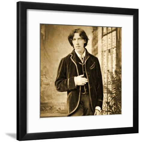 Portrait of Oscar Wilde C. 1882-Napoleon Sarony-Framed Art Print