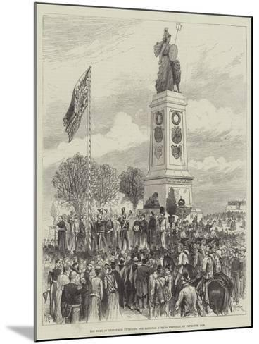 The Duke of Edinburgh Unveiling the National Armada Memorial on Plymouth Hoe-Melton Prior-Mounted Giclee Print