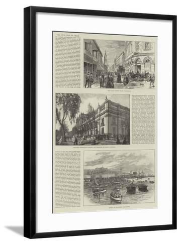 The Civil War in Chile-Melton Prior-Framed Art Print