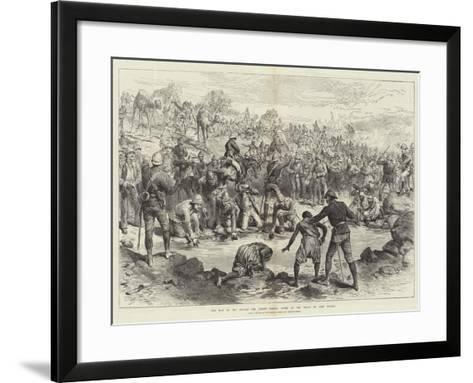 The War in the Soudan, the Desert March, Scene at the Wells of Abou Halfa-Melton Prior-Framed Art Print