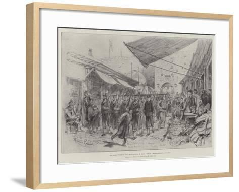 The Graeco-Turkish War, Bluejackets of HMS Anson Route-Marching in Canea-Melton Prior-Framed Art Print