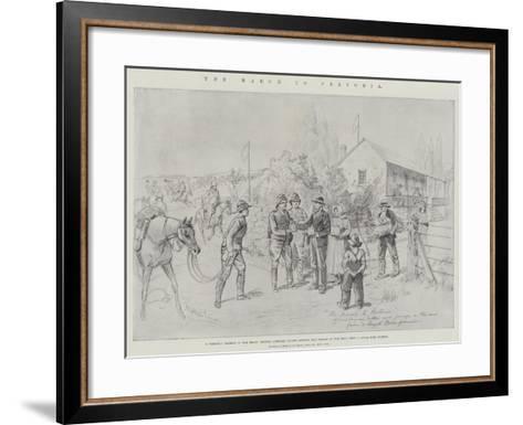 The March to Pretoria-Melton Prior-Framed Art Print