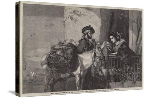 "The Spanish Flowerseller-Matthew ""matt"" Somerville Morgan-Stretched Canvas Print"